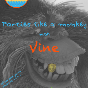 Oranje beach bar parties like a monkey with Vine 3/8/2013