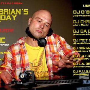 Chris Aux, Piet De Bellis & Da B.O.R.A. live @ DJ O'Brian Bday Open Air Floor 17-08-2012 #2