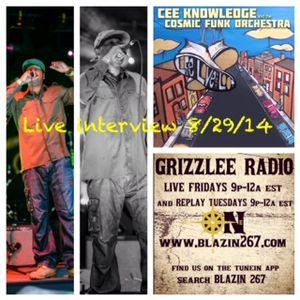 GRIZZLEE RADIO (Divine and Calente) 8-29-14 with CEEKNOWLEDGE AKA DOODLEBUG