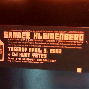 Kurt Yates Live at Soma April 9, 2002 Opening Set for Sander Kleinenberg