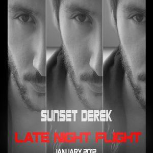 Sunset Derek mix LateNightFlight BroadCast | January 2012