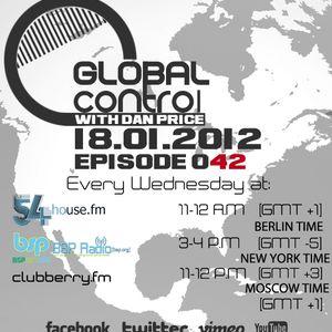 Dan Price - Global Control Episode 042 (18.01.12)