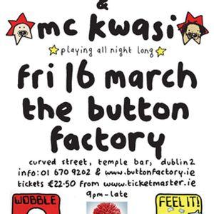 Mr Scruff & MC Kwasi, Dublin Button Factory, 16th march 2012