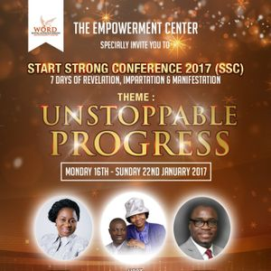 Start Strong Conference Day 3 - UNSTOPPABLE PROGRESS