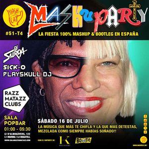 MashuParty #51 - DJ Surda, Sick-O & Playskull DJ (MashCat Team) - PopBar Razzmatazz (2016/07/16)