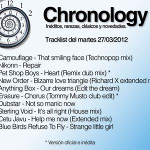 Chronology 27mar2012