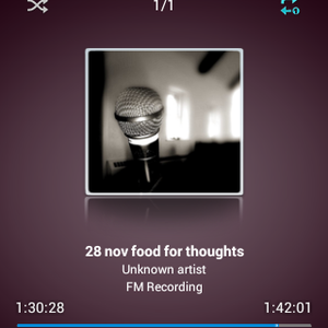 28 nov    show   ( Food For Thoughts)   wd    RJ ACIF MALICK RIAZ