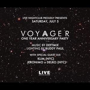 DJ DELRO, KLIM, DJ JERONIMO, & DEFTMIX - Live recording of VOYAGER 1 YEAR ANNIVERSARY  Ann Arbor MI