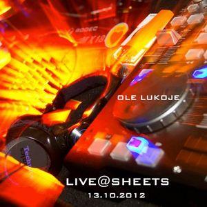 LIVE@SHEETS 2012-10-12