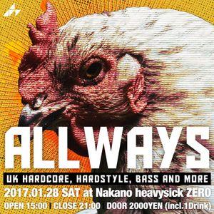 #ALLWAYS06 Warm Up Mix / Monthly Mix Jan. 2017 by kibidance