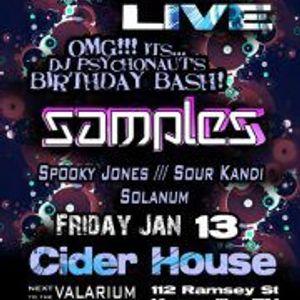 Sour Kandi at Midnight Voyage Live 1-13-12: Samples, Spooky Jones, Sour*Kandi & Solanum
