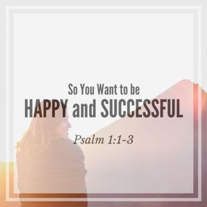 11.13.16 So You Want to be Happy and Successful