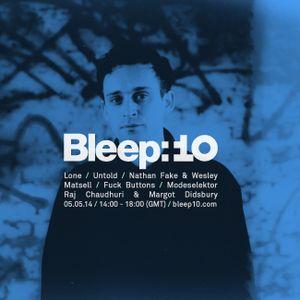 NTS Radio 05/05/14: Bleep 10 Year Anniversary Special w/ Untold, Nathan Fake, Wesley Matsell & Lone
