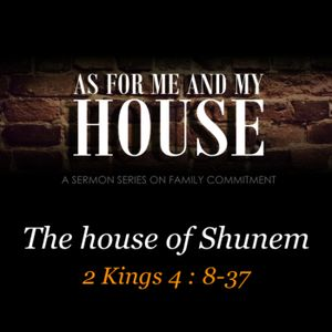 AS FOR ME AND MY HOUSE #3 - The house of Shunem