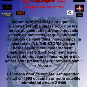 METAL IS THE LAW N°36 DU 28 MAI 2014 AS THE STORM