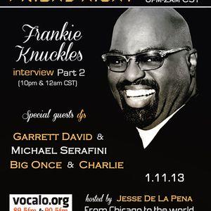 Frankie Knuckles interview on Vocalo (part 2)