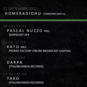 KATO Promo-Factory Radio Broadcast 2012 09 11 23-24h (GMT+1) Special Guest2: Tako (Italo Busines)