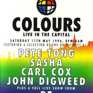 Carl Cox Essential Mix 19-05-1996 Colours Edinburgh REPRODUCTION Part 1