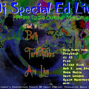 """dj Special Ed - """"Pirate Radio Outlaw"""" Live mix series - both Tables are Live"""