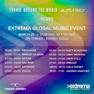 Trance Around The World With Lisa Owen Presents >Extrema Global Music Event  LOCUS