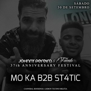 Moka B2b St4tic At Johnny Pereira 37º Aniversário ● Open Air  at Sky Bar Expo 4 decks