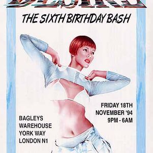 Rap & MC GQ Desire '6th Birthday Bash' Bagleys 18th Nov 1994