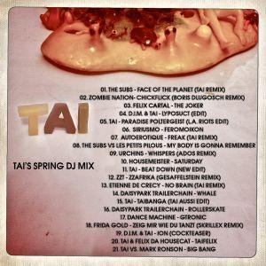 TAI's Spring '11 DJ Mix