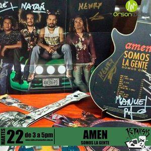 Ktarsis con Amen presentando AMEN SOMOS LA GENTE 23-03-16