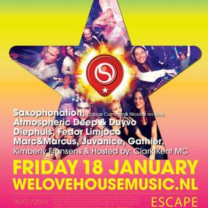 Recorded mixset Marc&Marcus preformance Escape Venua Amsterdam Superstars