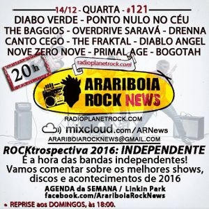 # 121 Arariboia Rock News - 14.12.2016 - Especial ROCKtrospectiva - Rock Independente
