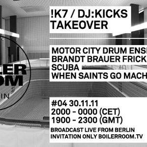 Motor City Drum Ensemble - Live @ Boiler Room 004, Berlin (30-11-2011)