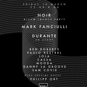 Live @ Egg London 13th March