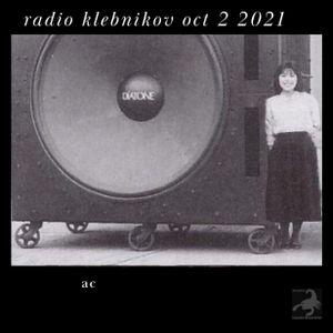 RADIO KLEBNIKOV Uitzending 2/10/2021