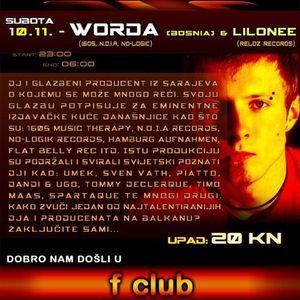 Worda  - UFC | Zagreb (Live Mix)