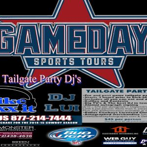 Gameday Sports Tours Pre-Tailgate Mixx Cowboys vs Falcons