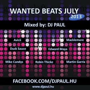 Wanted Beats July 2013 Mixed by Dj. Paul (www.djpaul.hu)