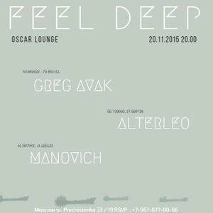 Manovich - Feel Deep [Live in @OscarLounge 2015-11-20]