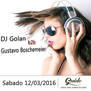DJ Golan b2b Gustavo Boschemeier @ Guido (12-03-2016)