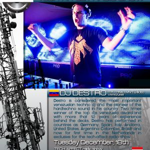 DJ DESTRO @Amsterdam, Holanda. Tech-affecT show in XT3 Techno Radio