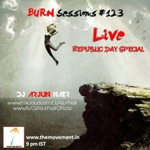 BURN Sessions # 123 LIVE - DJ ARJUN NAIR