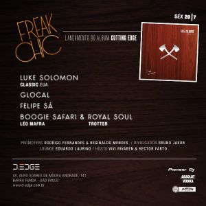 Felipe Sá @ Luke Solomon's Cutting Edge Compilation Release Party - D-Edge Club 20.07.12