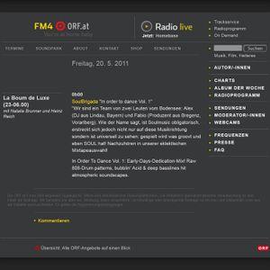 SoulBrigada 'In Order To Dance Vol. 1' @ La Boum De Luxe (Radio FM4, Vienna)