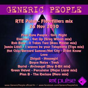 RTE Floorfillers 30 min Mix 26th Nov 2010 - Generic People