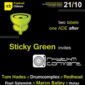 Amsterdam Dance Event 2012 - Recorded in Odeon Sticky Green & Rhythm Convert(ed) label  showcase
