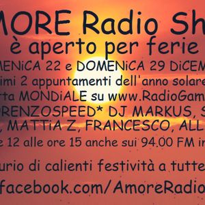 LORENZOSPEED present AMORE Radio Show Domenica 22 Dicembre 2013 with SELiM SiMON MARKUS part 1