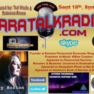 Paratalkradio -Interview of Stacey Horton ( Rieki Healer, Paranormal Investigator, Psychic Medium)