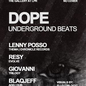 Giovanni @ Le Poison Rouge - Dope Underground Beats & Trilogy Party