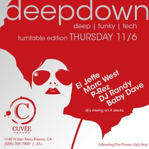 In The Big Room presents Deep Down @Cuvée