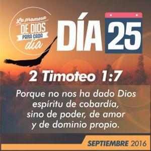 La Promesa de Dios para cada día - 25 de Septiembre