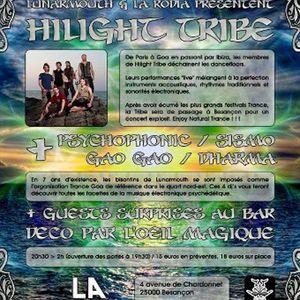 DJ Gaogao Live Mix@Bar Rodia Hilight Tribe Lunarmouth 261012 only Vinyl Down Tempo Dub Drum Trip hop